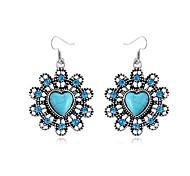 Liebe Blumen Saphir-Diamant-Ohrringe