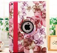 moda rotación flor grano suerte pu funda de diseño para la tableta Mini iPad 2