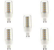 7W G9 Bombillas LED de Mazorca T 36 SMD 5730 700 lm Blanco Cálido AC 100-240 V 5 piezas