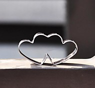 Valentine's Love Heart to Heart Shape Cookie Cutter, Stainless Steel
