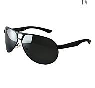 aviateur lunettes de soleil aluminium légers pour hommes polarisés