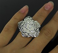 rosas nobles de plata anillo de plata
