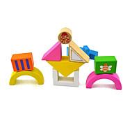 Cartridge Housing Chunks Of Bricks 15 Children Wooden Building Blocks Toy
