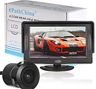 4,3 polegadas 480 x 272 TFT retrovisor do carro display LCD colorido encosto de cabeça com câmera do carro cmd