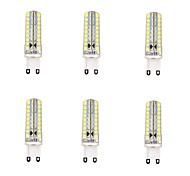 6 pcs G9 4W 72 SMD 2835 600 LM Warm White / Cool White Dimmable LED Corn Lights AC 220-240 V