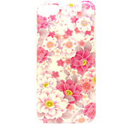 Pink Flowers Pattern Soft Case for iPhone 5C
