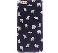 Lovely Little Elephant Design Soft Case for iPhone 6