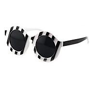 anti-reflexo de plástico redondas retro óculos de sol