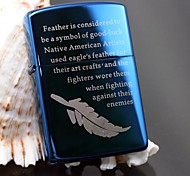 Zorro Bule Lucky Feather Metal Copper Shell Oil Lighter