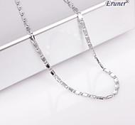 eruner®unisex plata 2 mm collar de cadena no.20