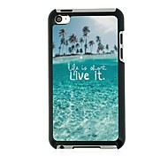 Island Beach Leather Vein Pattern Hard Case for iPod touch 4