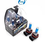 HM® faros lámpara halógena de 100w 12v bombillas blancas h11 plasma xenón (un par)