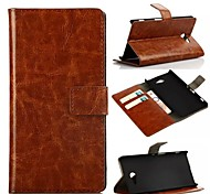Oil Side Frame Model Design PU Leather Full Body Case with Card Slot for Sony Xperia M2 S50h(Assorted Colors)