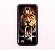 personalisierte Telefon-Fall - Tiger Design Metall-Fall für Samsung-Galaxie s4