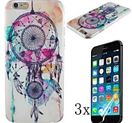 Follow Music Pattern Hard Case with High Cleaning Cloth To Remove The Screen Protector for iPhone 6 Plus [3 Pack]