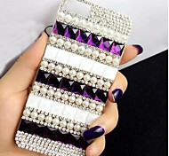 LADY The Classic Pearl  with Diamond Frame for iPhone 6