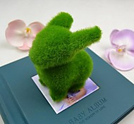 Cute Green Artificial Grass Rabbit for Car and Home Decoration