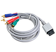 1.8m 5.904ft wii 30pin macho a 5RCA hd cable de audio y video pantalla tv dorado macho para 480p apoyo wii