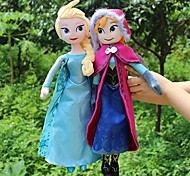 Sparkle Princess Elsa and Anna Stuffed Soft Plush Doll (2pcs 21 Inch)