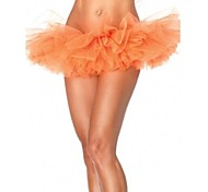 Orange Tulle Bouffant Tutu Women's Burlesque Party Dance Club Skirt
