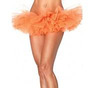 Orange Tulle Bouffant Tutu Women's Burlesque Party Dance Club Skirt