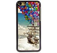 The Balloon Pirate Ship Design Aluminum Hard Case for iPhone 5C