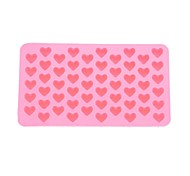 55 slots molde bandeja molde do bolo em forma de coração silicone biscuit cozimento bakeware (rosa)