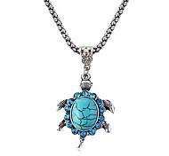kleine Schildkröte Saphir Halskette