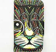 The King Of The Forest Pattern PU Leather Full Body Case with Card Slot and Stand for iPhone 4/4S