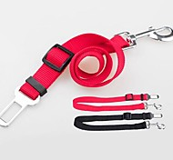 Dog Leash Adjustable/Retractable Rainbow / Silver Nylon