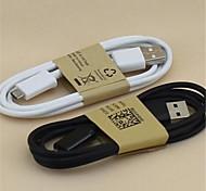 1m cable de datos micro USB para los teléfonos Samsung s5 / S4 / S3 / Nota4 (colores surtidos)