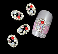 10pcs Oval Rhinestone Line Alloy Accessories Nail Art Decoration