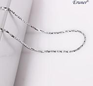 eruner®unisex silver 1 millimetro catena collana no.19
