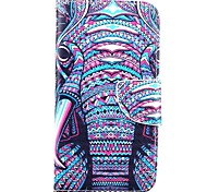 For Motorola Case Wallet / Card Holder / with Stand / Flip Case Full Body Case Elephant Hard PU Leather Motorola