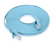 cat6 rj45 cable de red plana azul (15m)