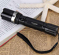 Raybow RB-001 Rechargeable 3-Mode 1x Cree Q5 Zoom LED Flashlight(350LM, 1x18650/3xAAA, Black)