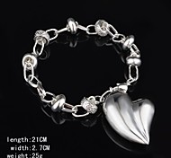 Fashion Sterling Silver Heart Shaped  Women's Bracelet