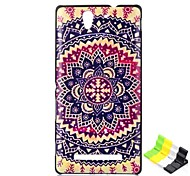 Sunflower Pattern PC Hard Case and Phone Holder for Sony C3