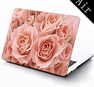 Bloom Rose Design Full-Body Protective Plastic Case for 11-inch/13-inch New Mac Book Air