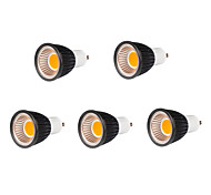 7W GU10 Focos LED MR16 7 COB 500-550 lm Blanco Cálido Regulable AC 100-240 V 5 piezas