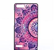 Flower Pattern PC Hard Case for Huawei G6