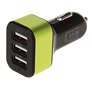 5.1A 3 USB  Port Car Charger Adapter(Assorted Colors)