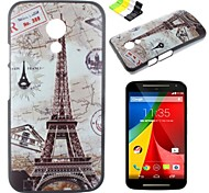 Tower Pattern PC Hard Case and Phone Holder for Motorola MOTO G2