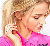 Miss ROSE®Hollywood loved Stack Plain Above Knuckle Ring Set 6pcs/set 14mm/15mm/16mm