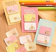 Cartoon Bear Self-Stick Notes Set(1 PCS Random Color)