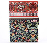 Rural Flower Pattern PU Leather Full Body Case with Stand  for iPad Mini 1/2/3