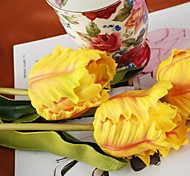 "Netherlands Yellow Orange Artificial Tulip 4 Pieces/Lot 19.69"" Stem for Home Decoration"