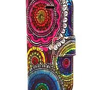 coco Fun® Blumenstammesmuster PU-Leder Ganzkörper-Fall mit Film und USB-Kabel und Schreibkopf für iphone 5c