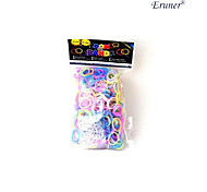 600PCS Loom Bands Style Fashion Loom Rubber Band(24pcs Hook)