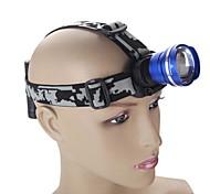 CREE XM-L T6 LED de los faros de los faros de 4 modalidades 2100lm luz ajustable con zoom para acampar senderismo con cargador de coche